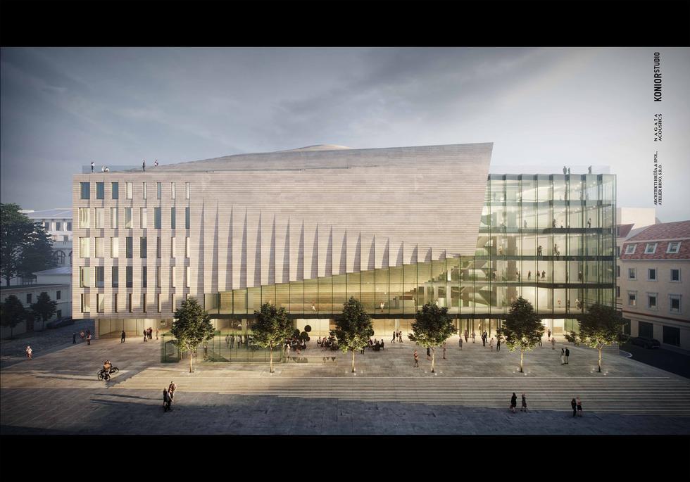 Filharmonia w Brnie projektu Konior Studio [WIDEO]